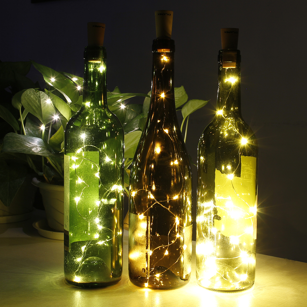 CYLAPEX 10 Pack Wine Bottle Lights with Cork, 20 LED Wine Bottle with  Lights on Copper Wire, LED Cork Lights for DIY of LED Decoration, Wedding  Centerpiece, Party, Christmas, Halloween, (Warm White) - CYLAPEX